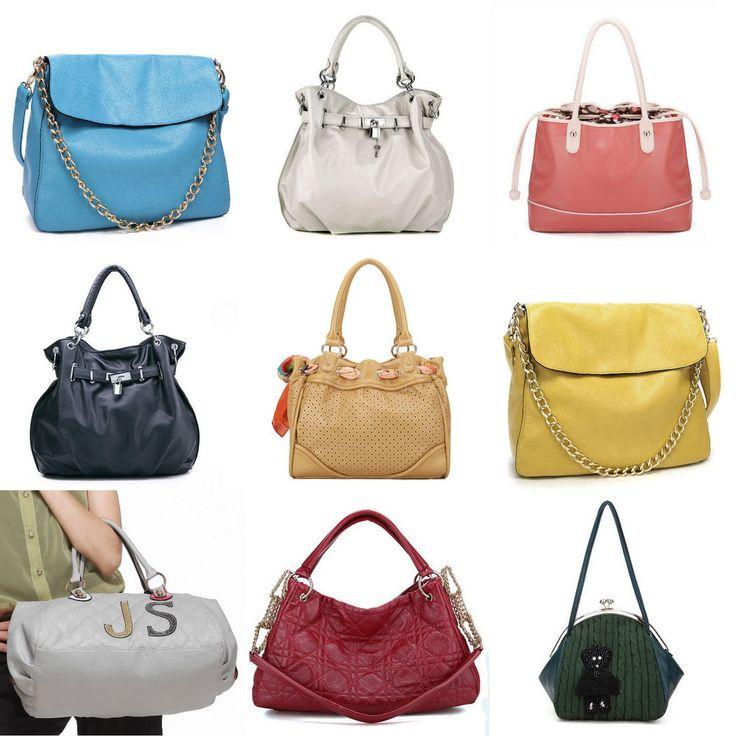 Damentaschen vegane Kunst Leder Schultertaschen Handtaschen Bunt Taschen Jugend Style