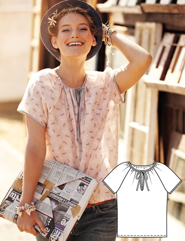Read the article 'Summer Blouses: 6 New Women's Sewing Patterns' in the BurdaStyle blog 'Daily Thread'.