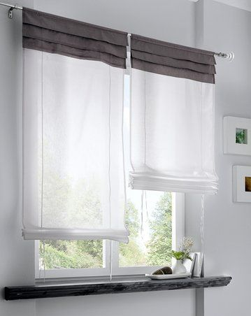 raffrollos landhausstil szukaj w google windows pinterest search. Black Bedroom Furniture Sets. Home Design Ideas