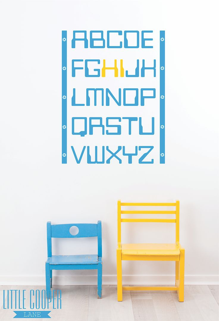Educational AND super cute!!! Removable Vinyl Wall Decal