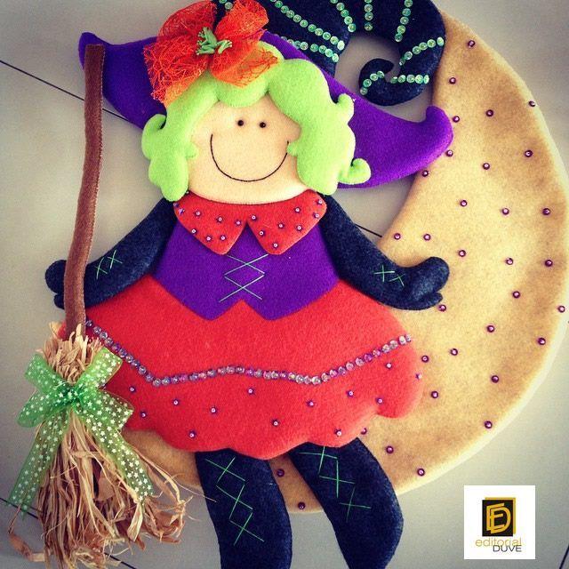 FIELTRO para coleccionar Especial de trabajos navideños  Vol.27   Cómprela en la Tienda de revistas: http://j.mp/R5ZHD7 o en nuestro sitio web: http://www.editorialduve.com/   #halloween #fieltro  #manualidades