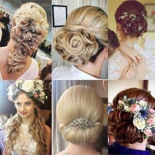 A collection of my work and various wedding hair styles I've created