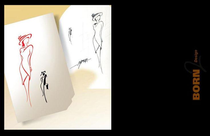 رسم حر بقلمي عالجته ببرنامج الكوريل درو واخرجته بالفوتوشوب