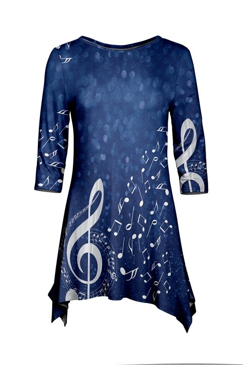 Deep Blue Sea Treble Clef Tunic at The Music Stand