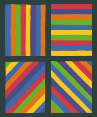 Sol Lewitt - Color Bands in four Directions, 1999