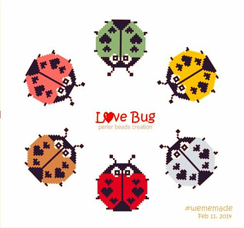 Perler Beads Creation No.14 : Love Bug in Round Design Collection by #wememade