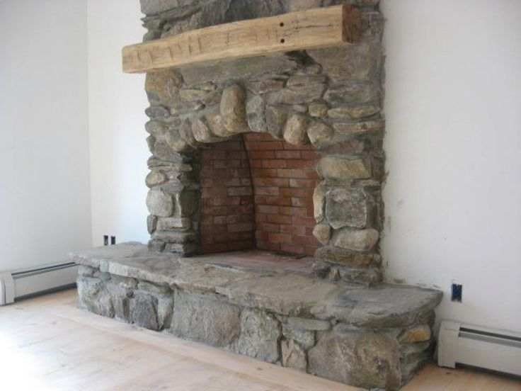 Fireplace Description Part - 19: This Rustic Field Stone Fireplace Has A Stone Hearth And Large Timber  Mantle. Description From