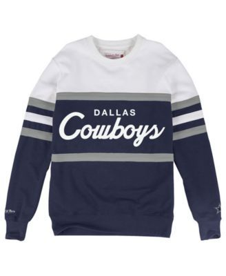 Mitchell & Ness Men's Dallas Cowboys Head Coach Crew Sweatshirt - White XXL
