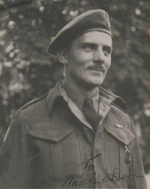 Sergeant Schiller, in the uniform of the Regina Rifle Regiment, photographed in Utrecht in 1945