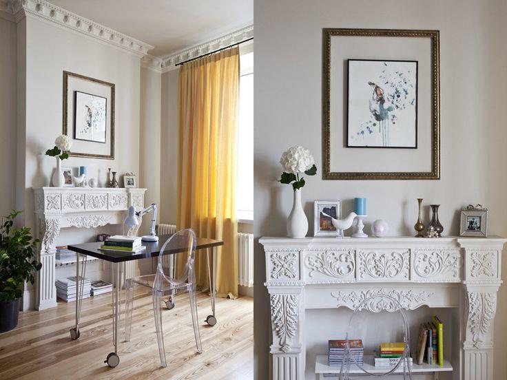 Как оформить интерьер с обложки: уютная гостиная с фальшкамином | Свежие идеи дизайна интерьеров, декора, архитектуры на InMyRoom.ru