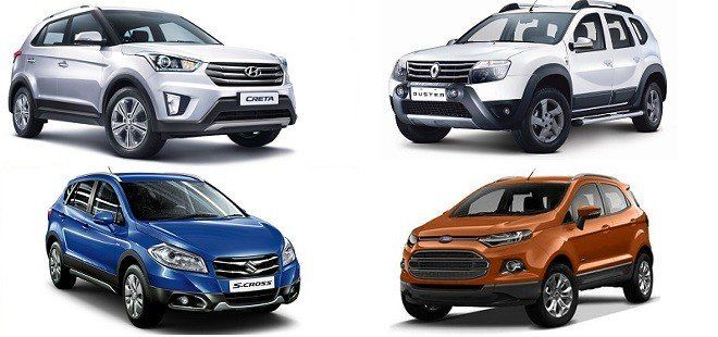Hyundai Creta (ix25) vs Renault Duster vs Ford Ecosport vs Maruti S-Cross http://www.carblogindia.com/hyundai-creta-ix25-vs-renault-duster-vs-ford-ecosport/