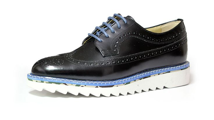 longwing brogue+shark sole_black