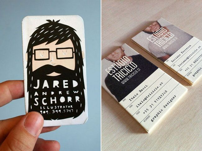 Love the bearded one! I imagine it as a stamp. So fun! business card ideas for a musician Business Card
