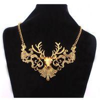 Старинные Сплав Лось Цепи Ожерелье для Женщин Мужчины Мода Повседневная Шеи Носить RH-1586