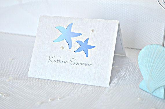 Starfish wedding placement cards, starfish wedding place cards, starfish placement cards, starfish place cards, beach wedding place cards