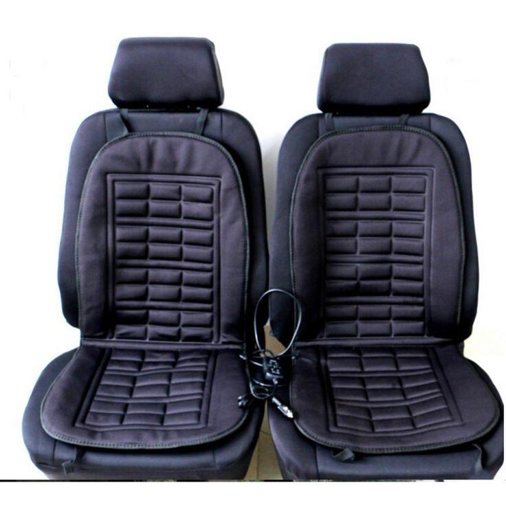 2Pcs Car Supplies Heating Car Seat Covers Winter Car Seat Cushion Heated Blending Monolithic Keep