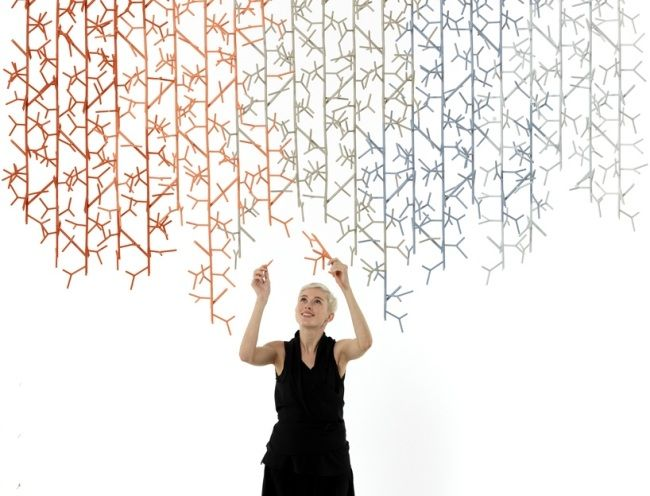 dimensionale Strukturen Aufbauen-Design Messe-Benjamin HUbert-London