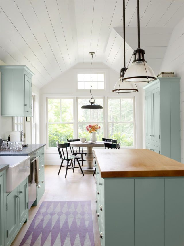 56 best kitchen paint wallpaper ideas images on for Farmhouse kitchen window treatments
