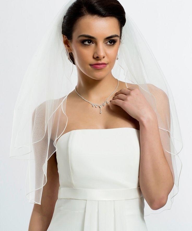 Mariage en Rose - Voile court simple avec bordure festonnée
