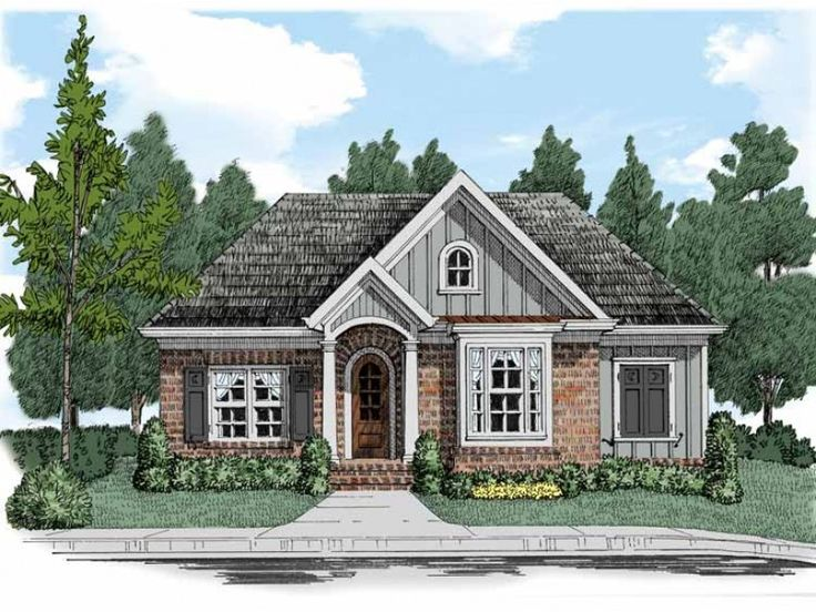 My current favorite hwepl67491 2171sqft single story for Rear entry garage house plans