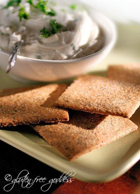 Gluten-Free Goddess® Recipes: Gluten-Free Hazelnut Crackers with Herb Spread