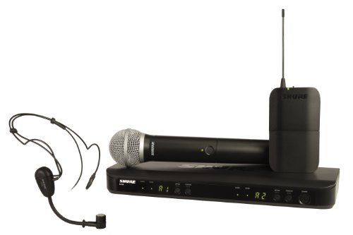 Shure BLX1288/PG30 Wireless Combo System with PG30 Headworn and PG58 Handheld Microphones, J10 *** To view further for this item, visit the image link.