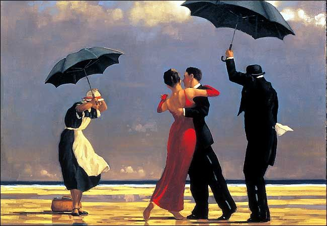 """""""The Singing Butler"""" by Jack Vettriano sold for more than one million dollars."""