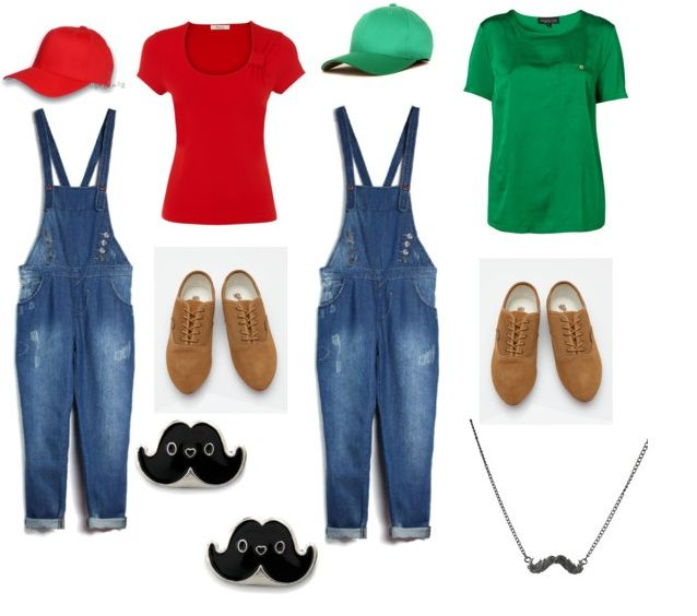 Mario and Luigi costumes. Don't forget the yellow buttons!