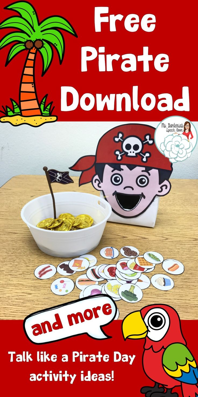 Talk Like a Pirate Day is September 19 - Ms. Gardenia's Speech Room
