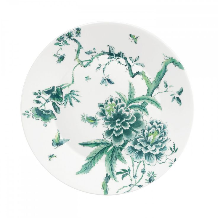 Chinoiserie White Dinner Plates by Wedgwood