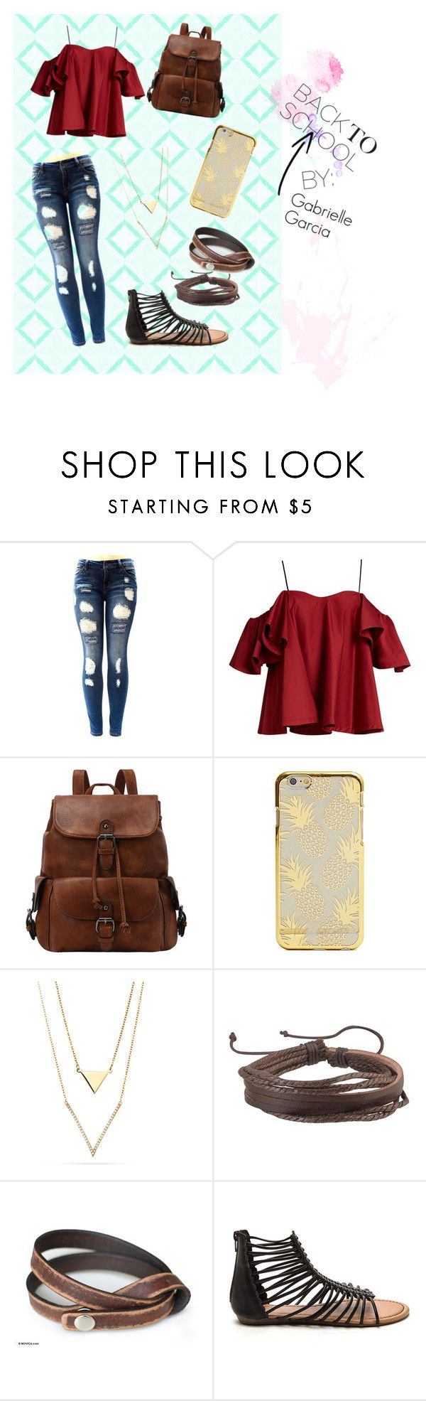 """Back to School Series I Gabrielle Garcia"" by asdfgabbyy on Polyvore featuring Anna October, Zodaca, NOVICA, school and asdfgabbyfashion"
