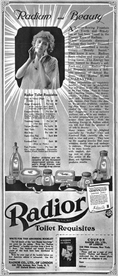 Radium and beauty...1930S, Radium Ads, Radioactive Beautiful, Beauty Products, Beautifull Radium, Vintage Ads, Radium Beautiful, Vintage Advertising, Beautiful Products