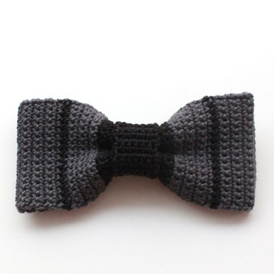I have a feeling Dexter and Lincoln and Jackson are going to have one of these in EVERY color :D Crocheted Bow Tie - Free Crochet Pattern