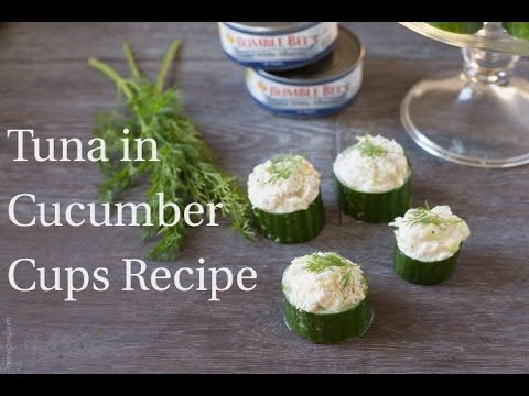 Tuna in Cucumber Cups — Tastes Lovely