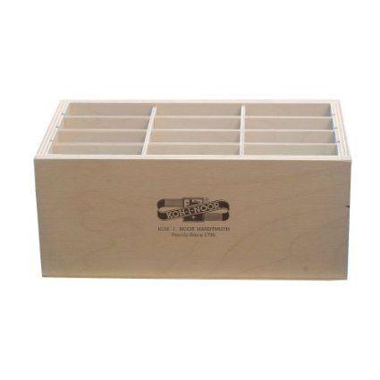 Holzbox GROSS für Stifte Pinsel Druckbleistifte, etc.. Koh-I-Noor Stiftebox Aufbewahrungsbox Pinselbox Stifteköcher: Amazon.de: Spielzeug