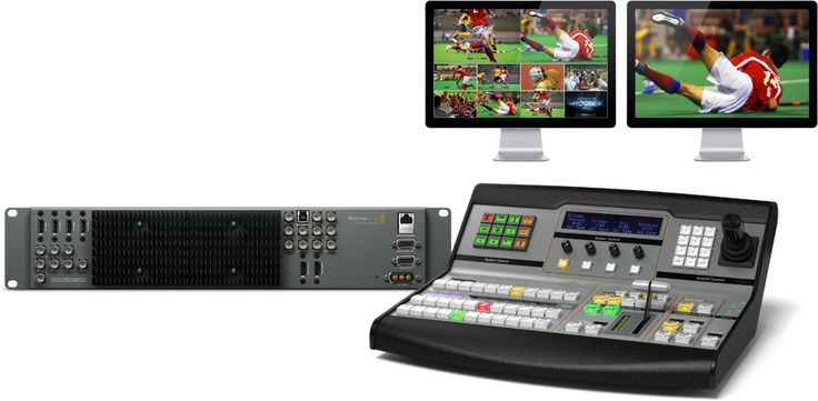 Blackmagic ATEM switchers include advanced technology and unique, powerful features, all built into a familiar M/E setup that's fast and easy to use. With an advanced broadcast SDI based design, ATEM also includes loads of HDMI connections. With or without crew and/of camera's