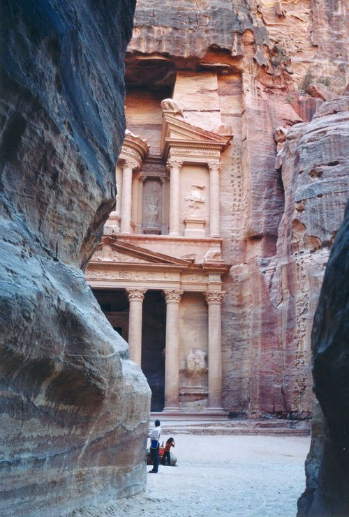 Petra. Or, as Americans who grew up in the 1980s know it, the place where Indiana Jones found the Holy Grail.