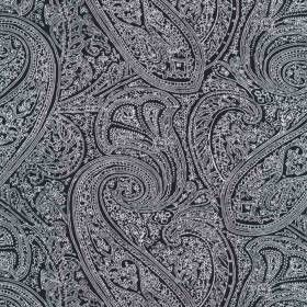 Tissu Paisley Noir - 24045
