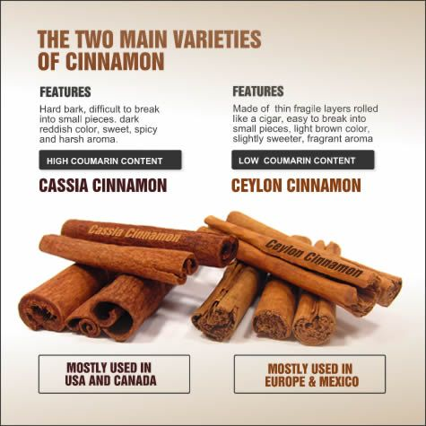Take a closer look at the four main types of Cinnamon, Ceylon, Cassia,Saigon, Korintje Cinnamon, their scientific names, how to identify them by color, taste, aroma and appearance