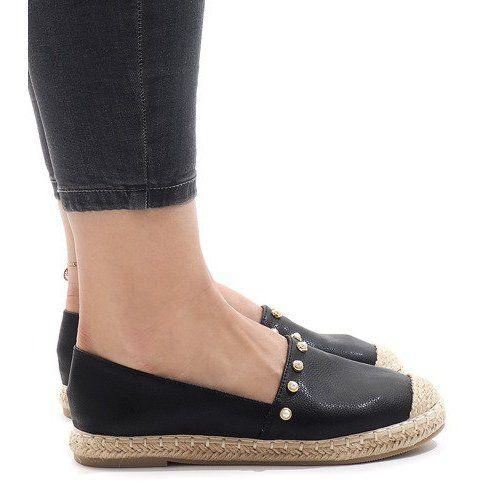 Czarne Espadryle A7 001 Espadrilles Black Espadrilles Slip On Shoes