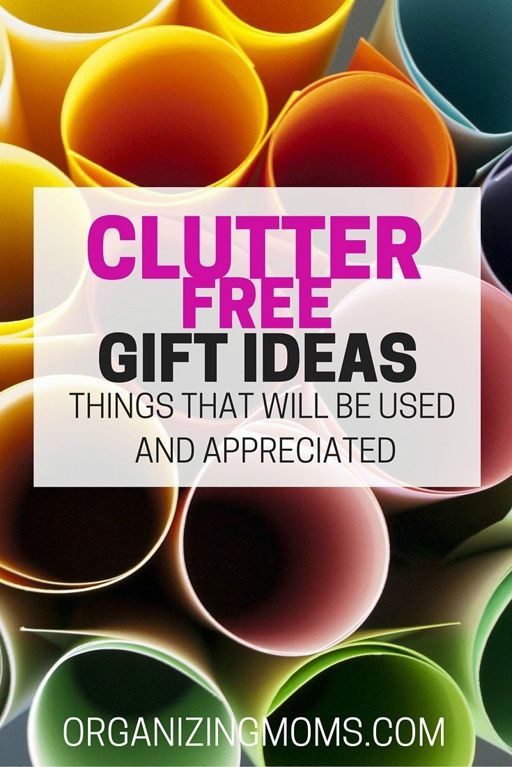 Clutter Free Gifts Parent gifts, Christmas gifts for