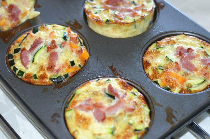 Grøntsags muffins med kylling