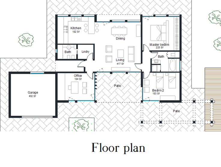 17 best images about house plans on pinterest ranch for Garage office plans