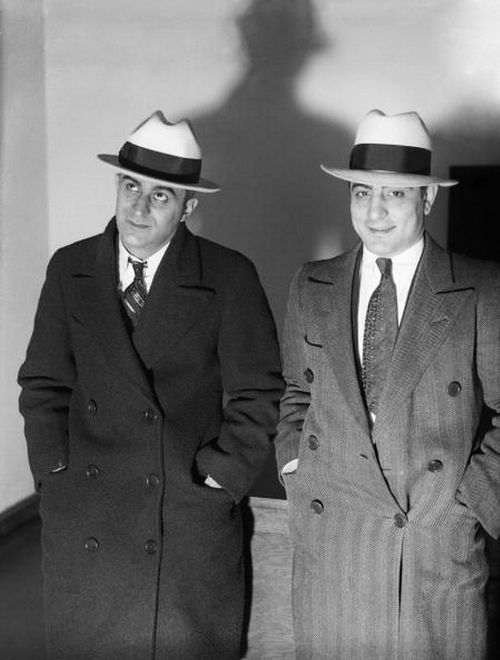 Louis Clementi, a gunman for Al Capone, and Phillip Mangano, a Gambino crime family member. | Chicago, 1920s.