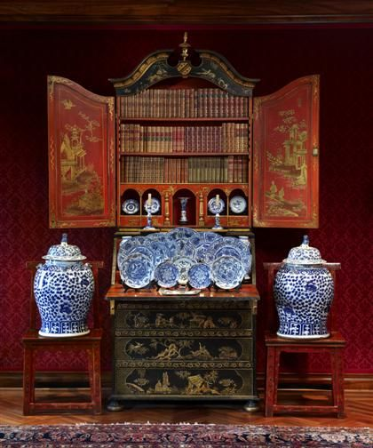 George III style black japanned secretaire bookcase. Estate of Marvin  Lundy, Rittenhouse Square, - 71 Best English & Continental Furniture & Decorative Arts Images On
