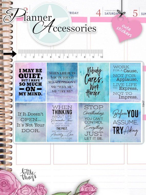 Inspiration Quotes:Planner Stickers Erin Condren Dream Catcher S491-Think Big