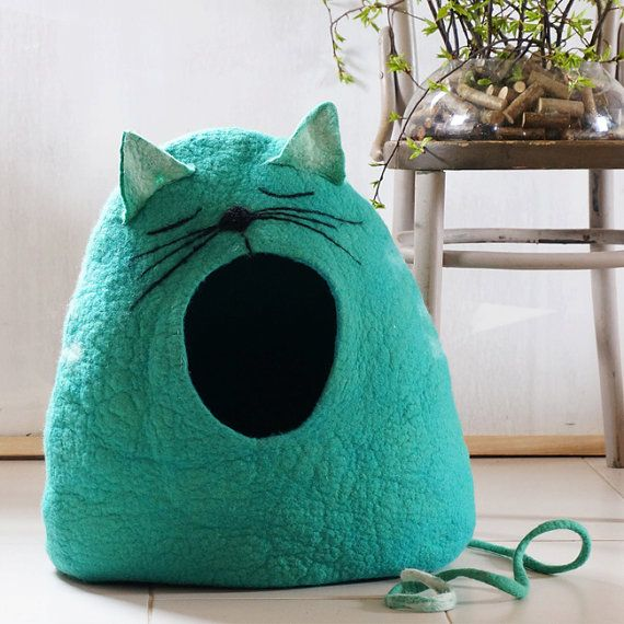 Cat cave, on Etsy.