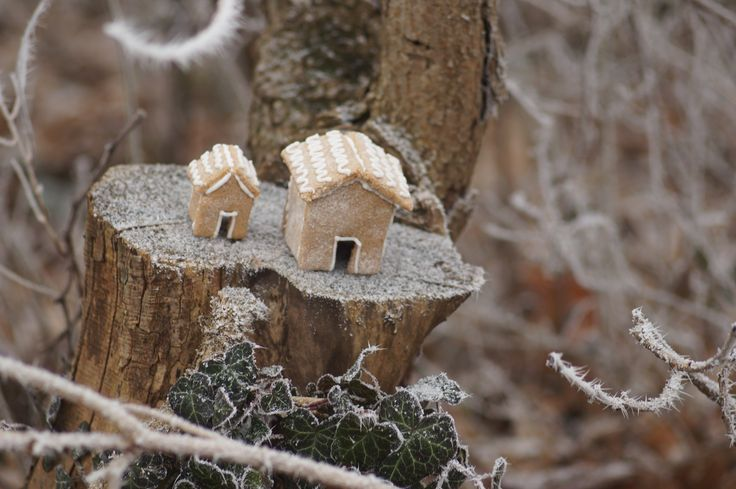 Mini gingerbread houses.