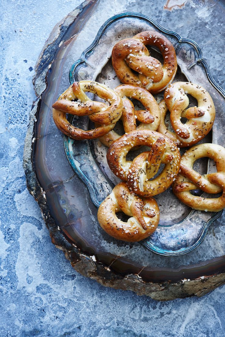 Himalayan rock sea salt and caraway pretzels