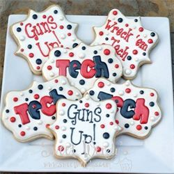 Texas Tech Cookies - Sweet Wendy's Texas Tech University TTU Wreck Em Guns Up Red Raiders Bleed Red & Black Lubbock, Texas
